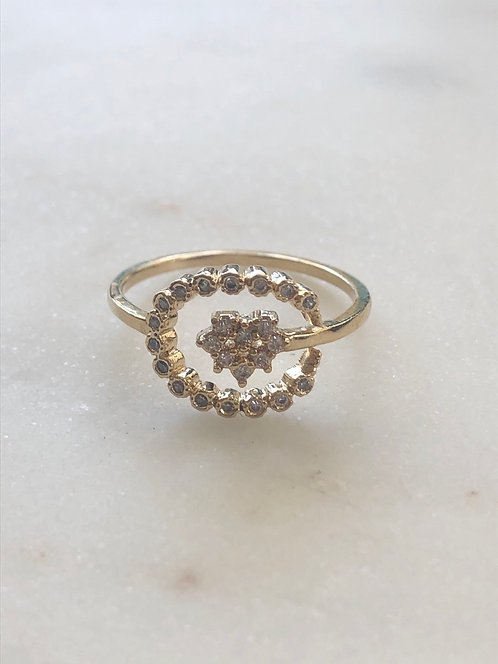 cz gold ring