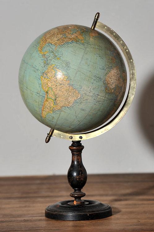 Globe terrestre Emile Bertaux XIXème.