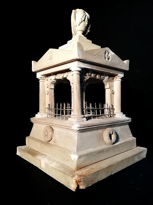 Maquette funéraire d'architecte XIXème.