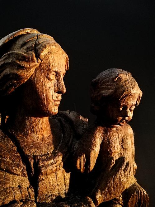 Vierge à l'enfant, XVIIIème.