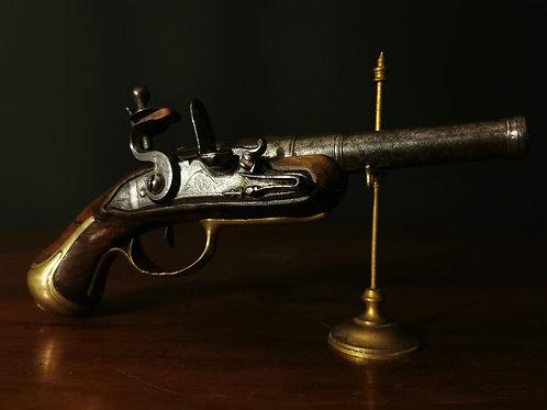 Pistolet de voyage à silex, XVIIIeme.