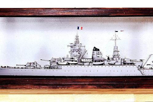 "Maquette du cuirasser ""Dunkerque"""
