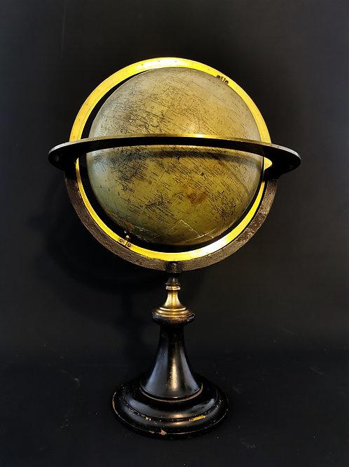 Globe terrestre, débit XIXème
