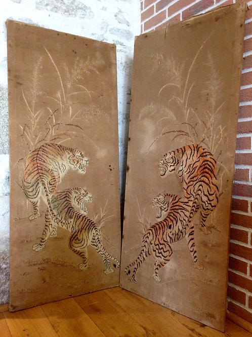Tapisserie du Laos.