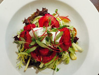 Wedding event catering Sussex Sneaky Duck mobile catering salmon salad
