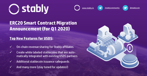 USDS Smart Contract Migration Announcement for Q1 2020
