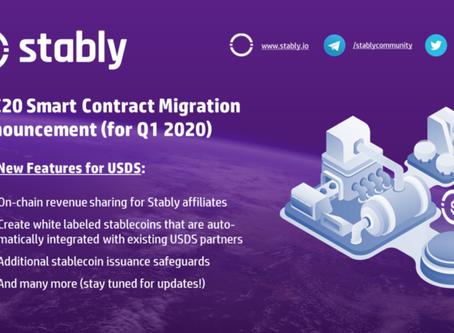 USDS Smart Contract Migration Announcement for Q12020