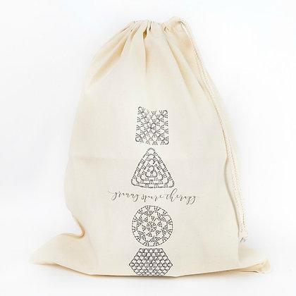 Crochet Chart Drawstring project bag