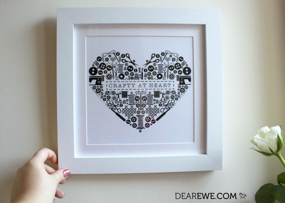 Crafty at Heart Dear Ewe Illustrated Framed Prints