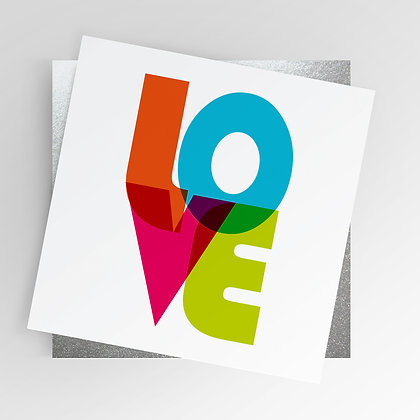 Crafts Crafter Screenprint Love Rainbow Illustrated Greetings Card