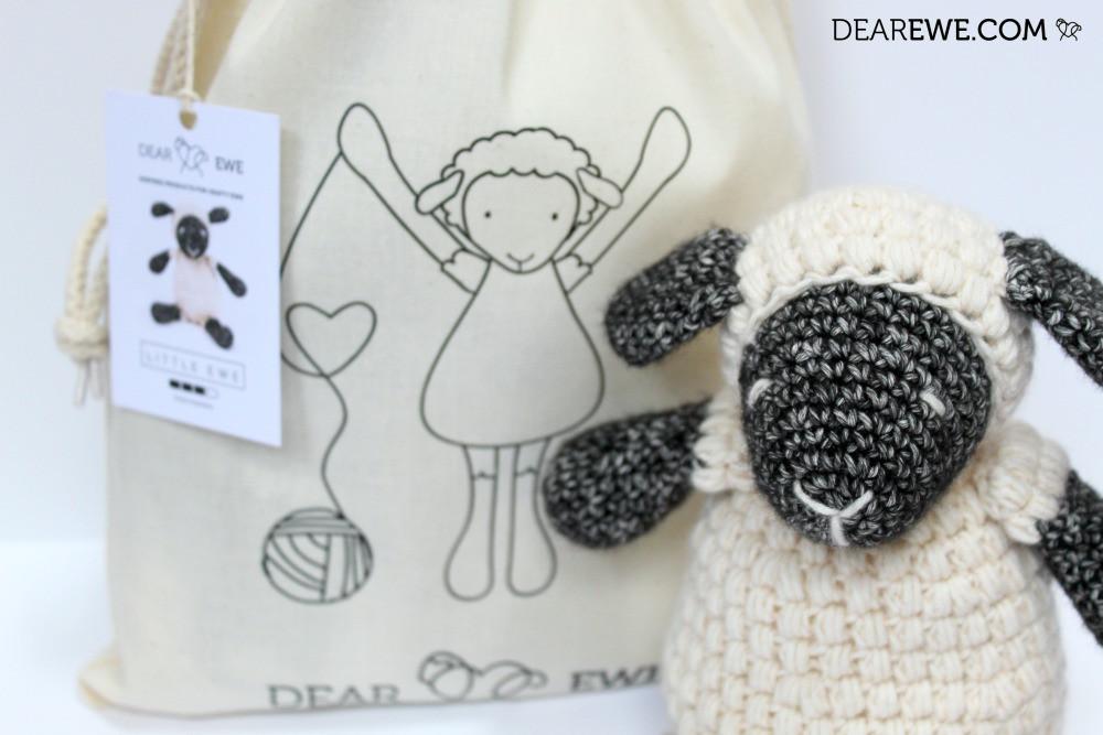 Dear Ewe Crochet DIY Kit of Little Ewe