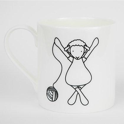 Yarn crochet knit sheep mug