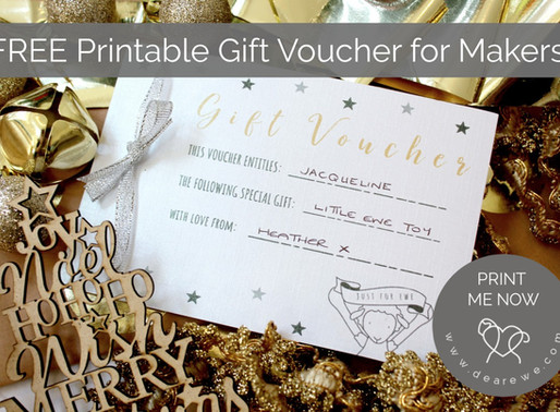 FREE Printable Gift Voucher for Makers
