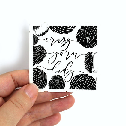 Stationery | Crazy Yarn Lady Single Sticker