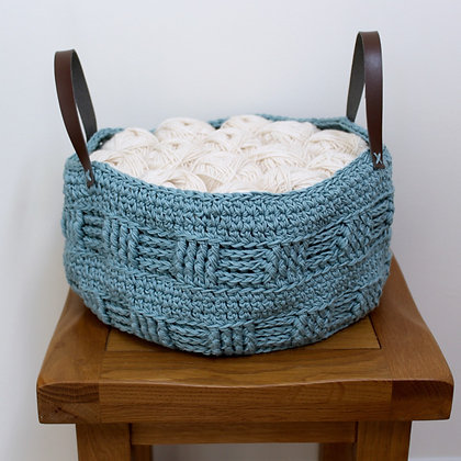 Crochet Pattern | Rustic Fat Bottomed Basket US Version