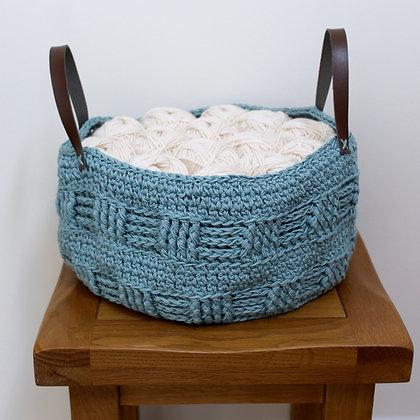 Crochet Pattern | Rustic Fat Bottomed Basket US Version