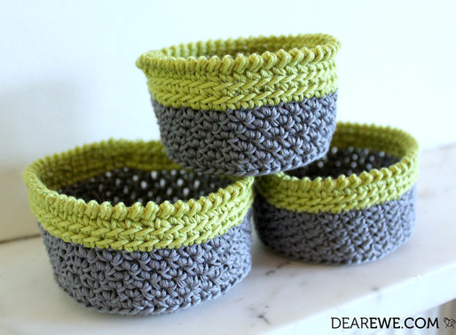 NEW Crochet Pattern Release | Lime Crush Stacking Baskets