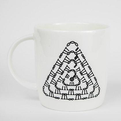 Triangle Crochet Chart Mug