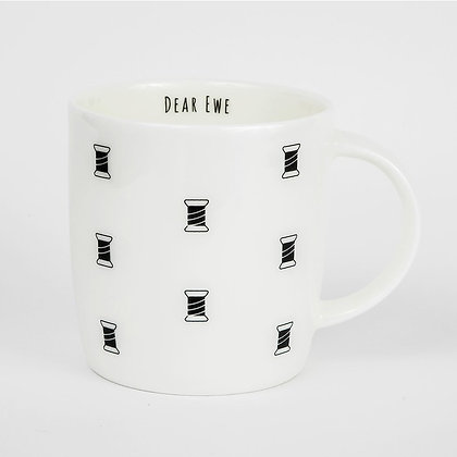 Sewing bobbin pattern maker mug