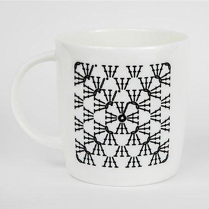 Granny Square Crochet Chart Mug