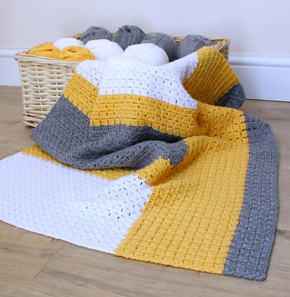 Crochet Pattern   Don't Block Me In Blanket UK Version
