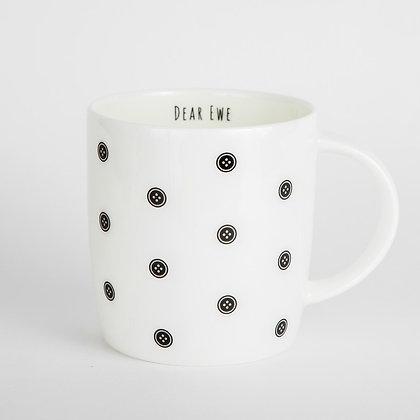 Button pattern maker mug
