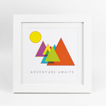 Sewing Quilting Adventure Awaits Rainbow Illustrated Print