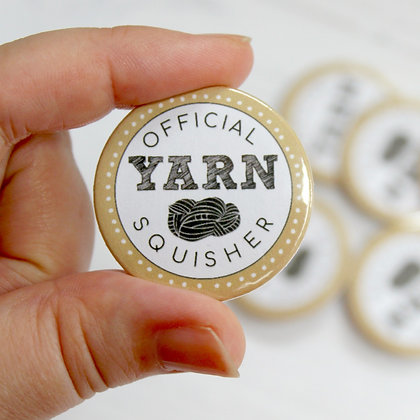 Official Yarn Squisher Button Badge