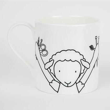 Crafting Crafter sheep mug