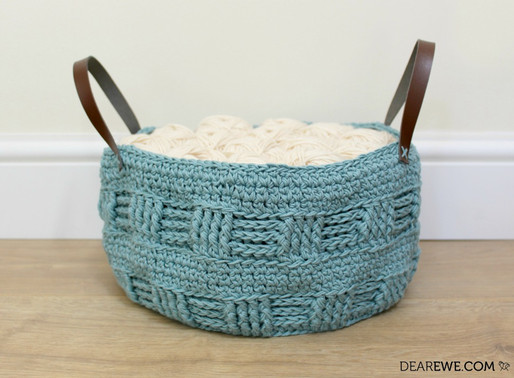 Happily Hooked Magazine | Fat Bottomed Rustic Basket