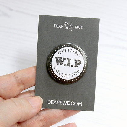 Official WIP Collector Button Badge