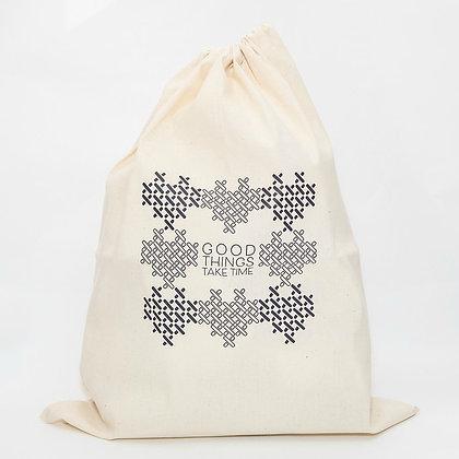 Stitching Crochet Knit Sewing Drawstring project bag