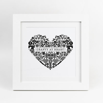 Crafters Sewing Crafty at Heart Illustrated Print