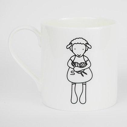 Knitter Love Knitting sheep mug