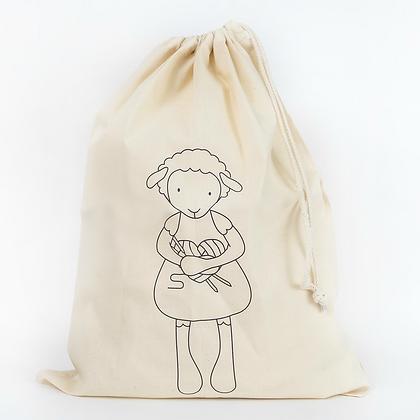 Knitter Ewe Knitting Drawstring project bag
