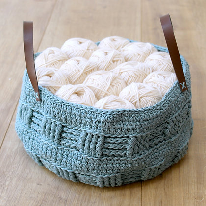 Crochet Pattern | Rustic Fat Bottomed Basket UK Version