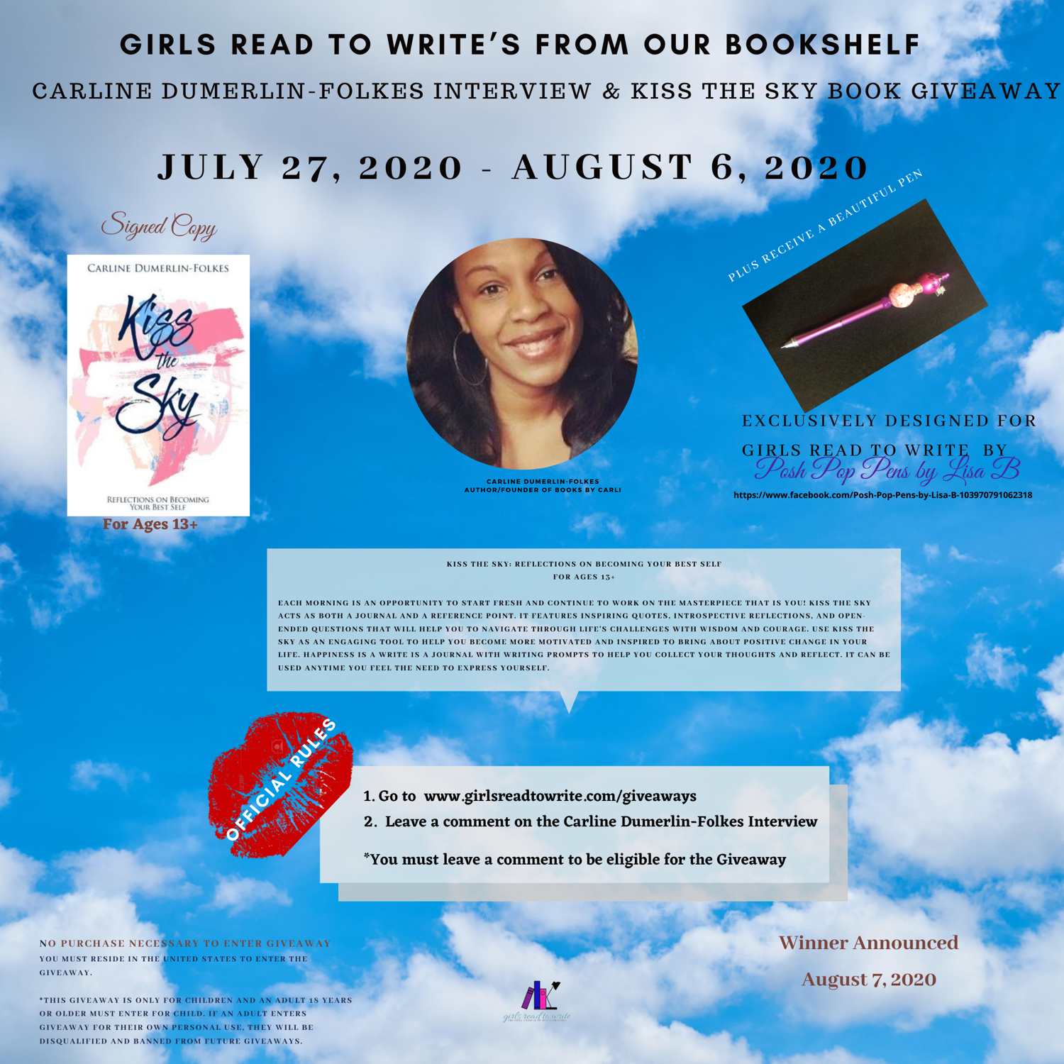 Carline DF Interview & Kiss the Sky Giveaway