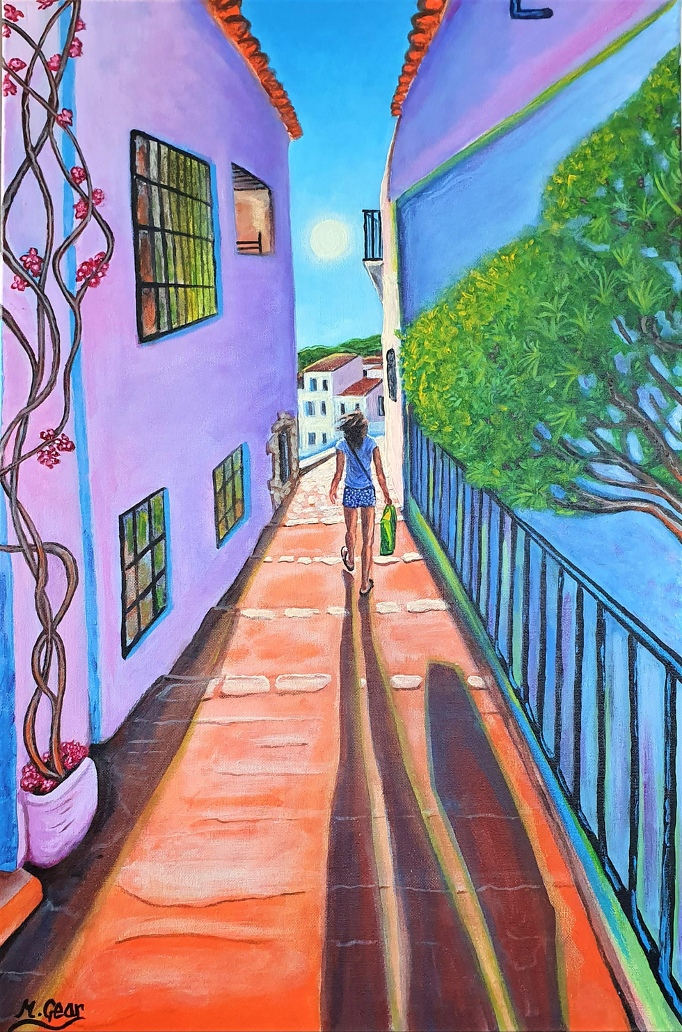 Painting: Shopping in Spain