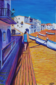 Painting: Kimberly on the boardwalk