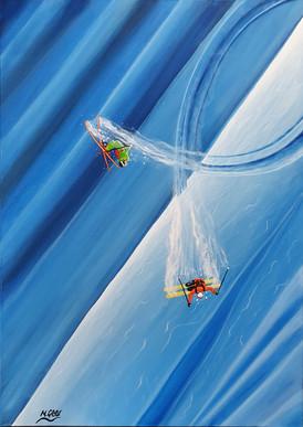 Ski Painting: Spine Time