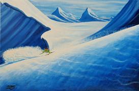 Ski Painting: Danger Zone