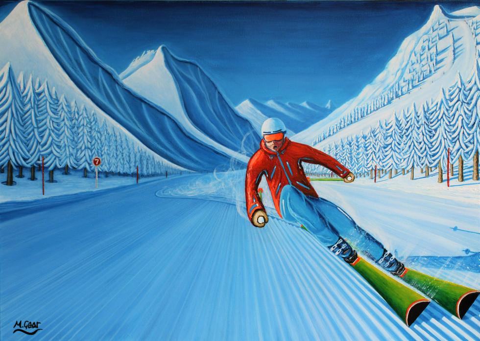Ski Painting: Corduroy Dreams