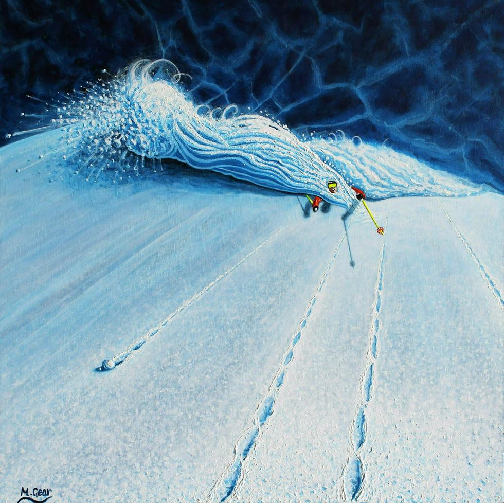 Ski Painting: Electric Powder