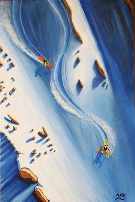 Ski Painting: Rock Stars