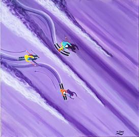 Ski Painting: Purple Powder
