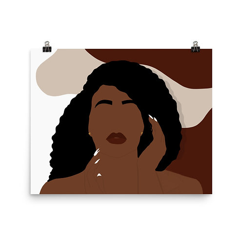 Creative Face Photo paper poster