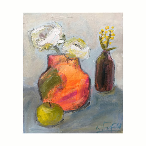 Apple and Oranges, 30.5cm x 25.4cm