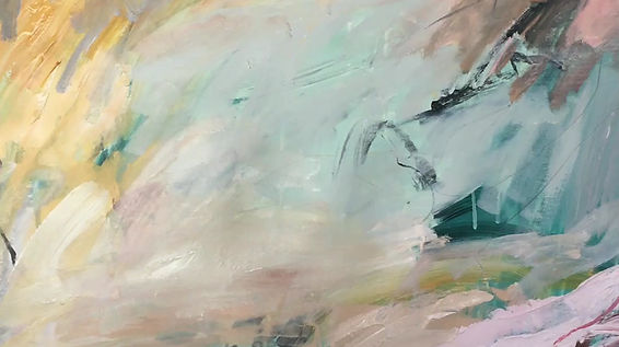 Video of abstract artist Nicole Fearfield painting in her Brisbane studio