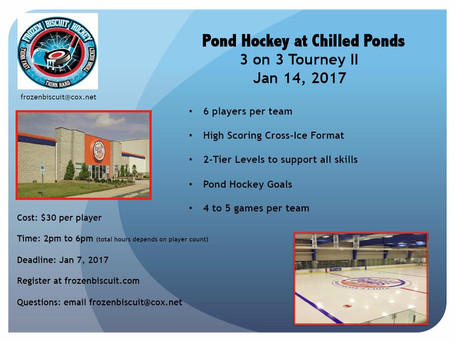 JAN 14 2017 Adult Pond Hockey Cup II