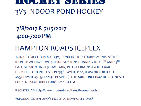 3v3 Indoor Pond Hockey Is Back!